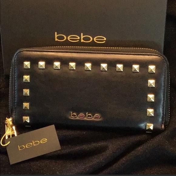 "bebe Handbags - Brand New ""bebe"" Studded Wallet"